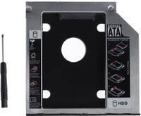 Vezi produsul Rack adaptor super slim DVD SATA caddy la 2.5 SATA HDD sau SSD 9mm in magazinul sogest.ro