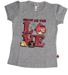 Vezi produsul Tricou fete, Angry birds, gri in magazinul prichindel.ro