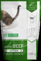 Vezi produsul Natures Protection Kitten With Beef 100 G in magazinul animalulfericit.ro