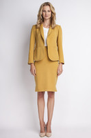 Vezi produsul Mustard jacket with shawl collars in magazinul molly-dress.com