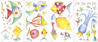 Vezi produsul Stickere SEA CREATURES | 4 colite de 25,4 cm x 45,7 cm in magazinul ka-international.ro