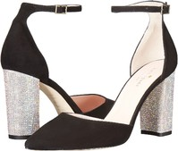 Vezi produsul Kate Spade New York Pax Black Kid Suede/AB Stone Heel in magazinul b-mall.ro