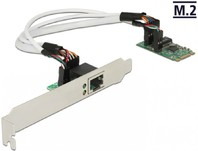 Vezi produsul Convertor M.2 Key B+M male la 1 x Gigabit LAN Low Profile Form Factor, Delock 62851 in magazinul conectica.ro