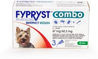 Vezi produsul Fypryst Combo Dog S 67 mg (2 - 10 kg), 3 pipete in magazinul petmart.ro