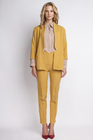 Vezi produsul Mustard stylish jacket with 3/4 sleeves in magazinul molly-dress.com