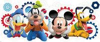 Vezi produsul Sticker gigant MICKEY MOUSE CLUB | 1 colita de 45,7 cm x 101,6 cm in magazinul ka-international.ro