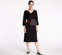 Vezi produsul Pietro Filipi Lady's Seamless Knitted Dress Black in magazinul footshop.ro