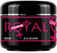 Vezi produsul Gel UV Clear Transparent 3 in 1 Royal Femme, Baza Constructie Finish, 30 ml. in magazinul obsesiv.ro