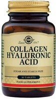 Vezi produsul Collagen Hyaluronic Acid Complex (Colagen, Acid hialuronic) 30 tablete, Solgar, natural in magazinul republicabio.ro