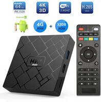 Vezi produsul TV BOX HK1 Max 4K, Android 8.1, 4GB RAM 32GB ROM, Kodi 18, RK3228 Quad Core, Wifi, Lan, Slot Card in magazinul dualstore.ro