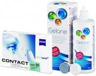 Vezi produsul Carl Zeiss Contact Day 30 Compatic (6 lentile) + Solu?ia Gelone 360 ml in magazinul xlentile.ro