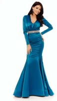 Vezi produsul Rochie lunga de seara turquoise Rn 2078 in magazinul atmospherefashion.ro