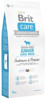 Vezi produsul Brit Care Grain-free Junior Large Breed Salmon and Potato, 12 kg in magazinul petmart.ro