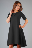 Vezi produsul Black High Fad Dress with Dipped Hem in magazinul molly-dress.com