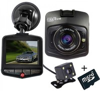 Vezi produsul Camera auto Dubla iUni Dash 806, Full HD, 2.5 Inch, 170 grade, Parking monitor, G senzor, Black + Card 16GB in magazinul techstar.ro