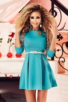 Vezi produsul Rochie scurta turquoise Rn 1661 in magazinul atmospherefashion.ro