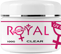 Vezi produsul Gel UV Clear Transparent 3 in 1 Royal Femme, Baza Constructie Finish, 100 ml in magazinul obsesiv.ro