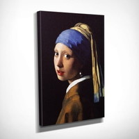 Vezi produsul Reproducere tablou pe pânz? Johannes Vermeer The Girl with Pearl, 30 x 40 cm in magazinul bonami.ro