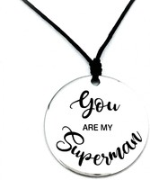Vezi produsul Colier argint gravat You are my Superman in magazinul personallyme.ro
