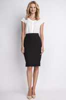 Vezi produsul Black pencil skirt with subtel pleats in magazinul molly-dress.com