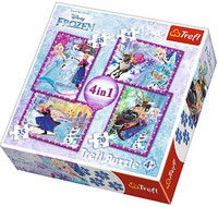 Vezi produsul Puzzle Frozen 4 in 1 - 35, 48, 54 si 70 piese in magazinul bebepufos.ro