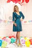 Vezi produsul Rochie midi din crepe turquoise Rn 1644 in magazinul atmospherefashion.ro
