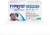 Vezi produsul Fypryst Combo Dog L 268 mg (20 - 40 kg), 3 pipete in magazinul petmart.ro
