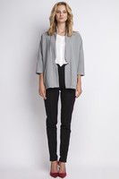 Vezi produsul Grey stylish jacket with 3/4 sleeves in magazinul molly-dress.com