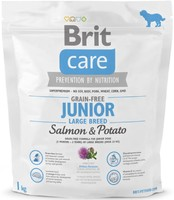 Vezi produsul Brit Care Grain-free Junior Large Breed Salmon and Potato, 1 kg in magazinul petmart.ro