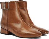 Vezi produsul Tommy Hilfiger Leather Square Toe Mid Heel Boot in magazinul politikos.ro