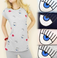 Vezi produsul Tricou dama Abstract Eyes in magazinul cotton.ro
