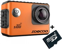 Vezi produsul Camera Video Sport 4K iUni Dare S100 Orange, WiFi, GPS, mini HDMI, 2 inch LCD + Card MicroSD 16GB Cadou in magazinul techstar.ro