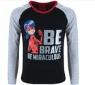 Vezi produsul Bluza, Be brave, be miraculous, neagra in magazinul prichindel.ro