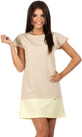 Vezi produsul Beige Pastel Lovely Straight Cut Lovely Dress in magazinul molly-dress.com