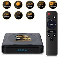 Vezi produsul Media player TV Box HK1 RBOX Mini Android 10, 4GB RAM, 32GB ROM, Mini PC 4K, Netflix subtitrat, Google Classro in magazinul techstar.ro