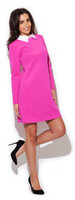 Vezi produsul Pink Flecked shift dress with contrast collars in magazinul molly-dress.com