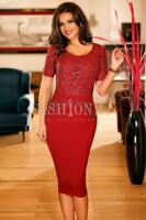 Vezi produsul Rochie Isabel Red in magazinul fashion-24.ro