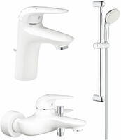 Vezi produsul Pachet 3 in 1 baterii baie Grohe Eurostyle, marimea S, alb,maner plin (23726LS3,23707LS3,27853001) in magazinul baterii-lux.ro