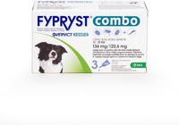Vezi produsul Fypryst Combo Dog M 134 mg (10 - 20 kg), 3 pipete in magazinul petmart.ro