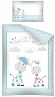 Vezi produsul Lenjerie pat, My little baby, albastra cu stelute, 100x135 cm in magazinul prichindel.ro