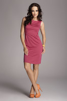 Vezi produsul Fuchsia Bateau Neck Seam Shift Slit Dress in magazinul molly-dress.com