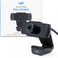 Vezi produsul Camera Web PNI CW1850 Full HD 1080P 2MP, USB, clip-on, microfon stereo incorporat in magazinul comenzi.ro