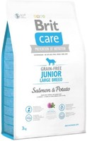 Vezi produsul Brit Care Grain-free Junior Large Breed Salmon and Potato, 3 kg in magazinul petmart.ro