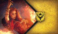 Vezi produsul A Game of Thrones: The Card Game Play Mat - The Red Woman in magazinul redgoblin.ro