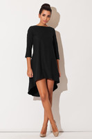 Vezi produsul Black Elegant Irregular Hem Salsa Dress in magazinul molly-dress.com