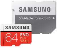 Vezi produsul Card de memorie Samsung EVO Plus 64 GB MB-MC64HA + Adaptor SD, Memorie interna de tip USH-I in magazinul case-smart.ro