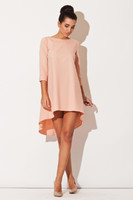 Vezi produsul Pink Elegant Irregular Hem Salsa Dress in magazinul molly-dress.com